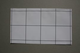 Cadeauzakjes | grid wit met zwart