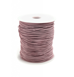 Koord   elastisch   oudroze 1 mm