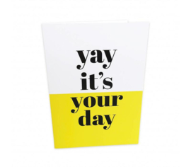 Dubbele kaart | Yay it's your day | Studio Stationery