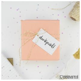 Cadeaulabel | Dankjewel | MIEKinvorm