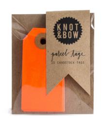 Cadeaukaartjes | neon oranje | Knot & Bow