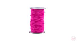 Koord   elastisch   neon pink 2 mm