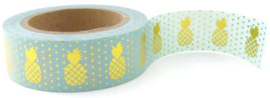 Washi tape | mint ananas goudfolie | Studio Stationery