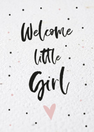Bloeikaart | Welcome little Girl | Kekootje