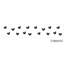 Washitape | wit met zwarte hartjes | MIEKinvorm