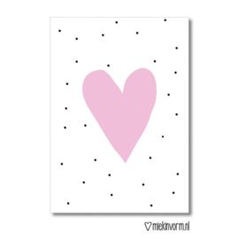 Kaart | Hart roze | MIEKinvorm