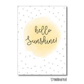 Kaart | Hello Sunshine | MIEKinvorm