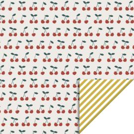 Cadeaupapier   cherry stripes   HOP.