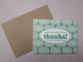 Kaart | many, many, many thanks! | &anne
