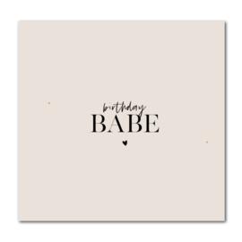Dubbele kaart | birthday BABE | Stationery & Gift