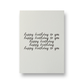 Kaart | Happy birthday to you | Lots of Lo