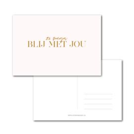 Kaart | Blij met jou | Stationery & Gift