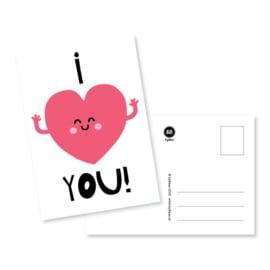 Kaart | I love you | byBean | licht-beschadigd