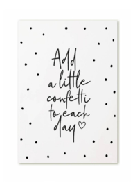 Kaart   Add a little confetti to each day   Zoedt