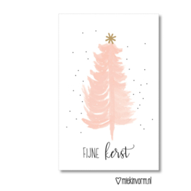 Minikaart | Fijne kerst roze | MIEKinvorm