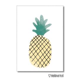 Minikaart | ananas | MIEKinvorm