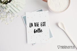 Kaart | La vie est belle | MIEKinvorm