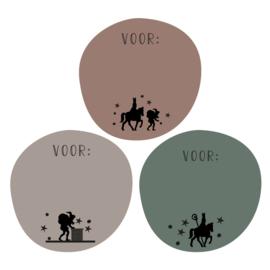 Stickers | Sint en Piet silhouette | HOP.