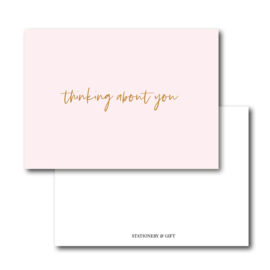 Minikaart   thinking about you   Stationery & Gift