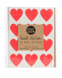 Hartstickers | rood | Knot & Bow