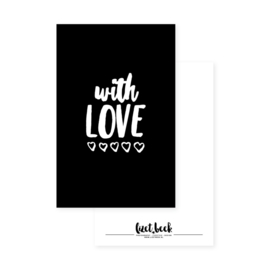 Minikaart | With love | Lizet Beek