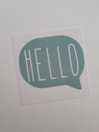 Sticker HELLO | zeegroen