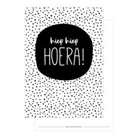 Kaart | hiep hiep HOERA! | Lizet Beek