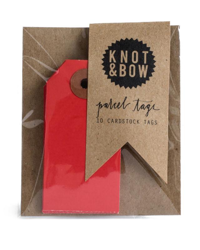 Cadeaukaartjes   rood   Knot & Bow