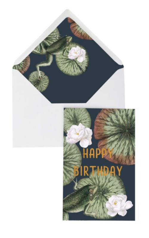 Dubbele kaart | Funky Frog Happy Birthday | Creative Lab Amsterdam