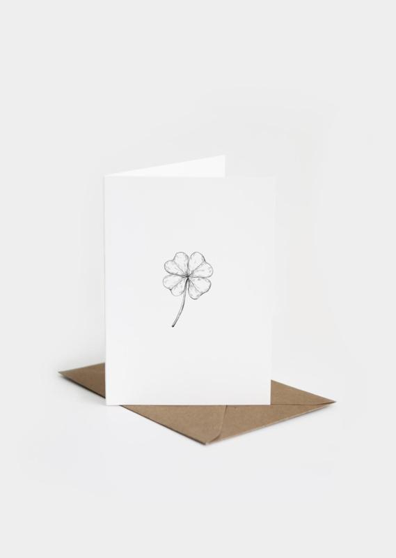 Dubbele kaart | Viooltje | inkylines