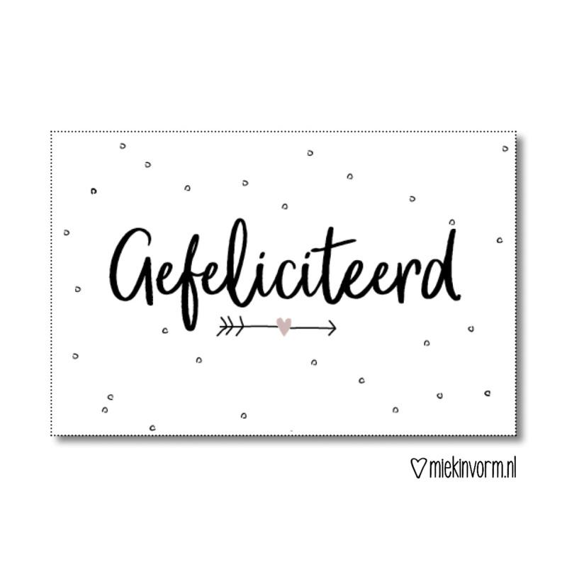 Cadeaulabel | Gefeliciteerd | MIEKinvorm