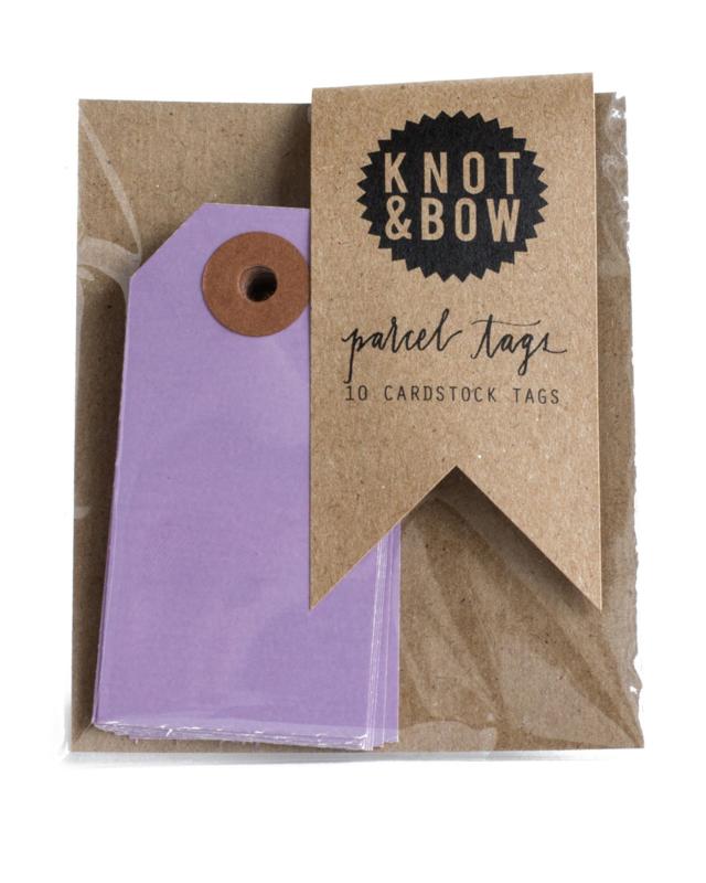 Cadeaukaartjes   paars   Knot & Bow