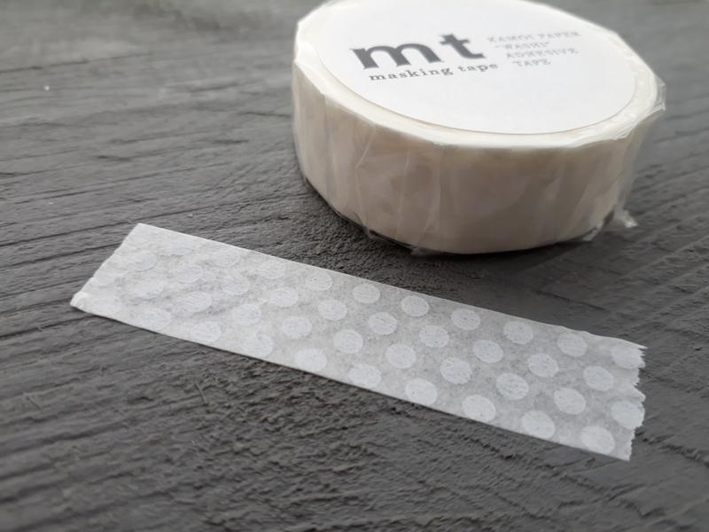MT masking tape | dot white