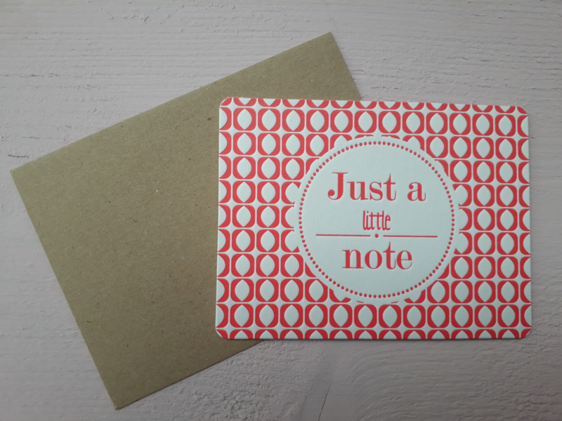 Kaart | Just a little note | &anne