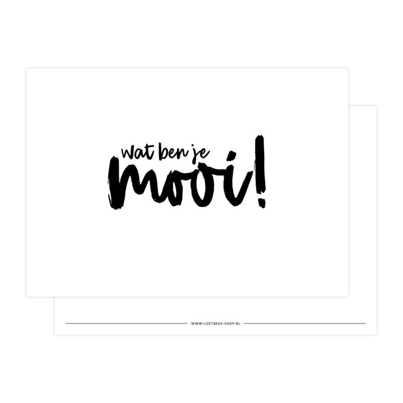 Kaart | Wat ben je mooi! | Lizet Beek