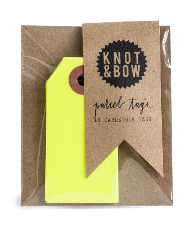 Cadeaukaartjes   neon geel   Knot & Bow