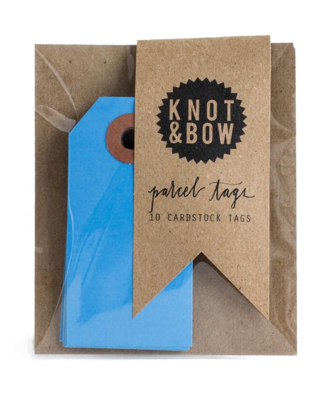 Cadeaukaartjes   blauw   Knot & Bow