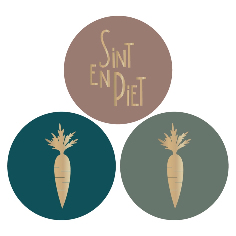 Sticker | Sint, Piet en wortel | HOP.