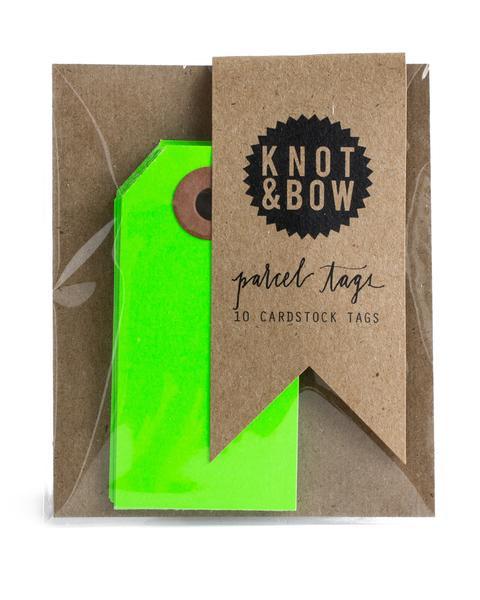 Cadeaukaartjes   neon groen   Knot & Bow