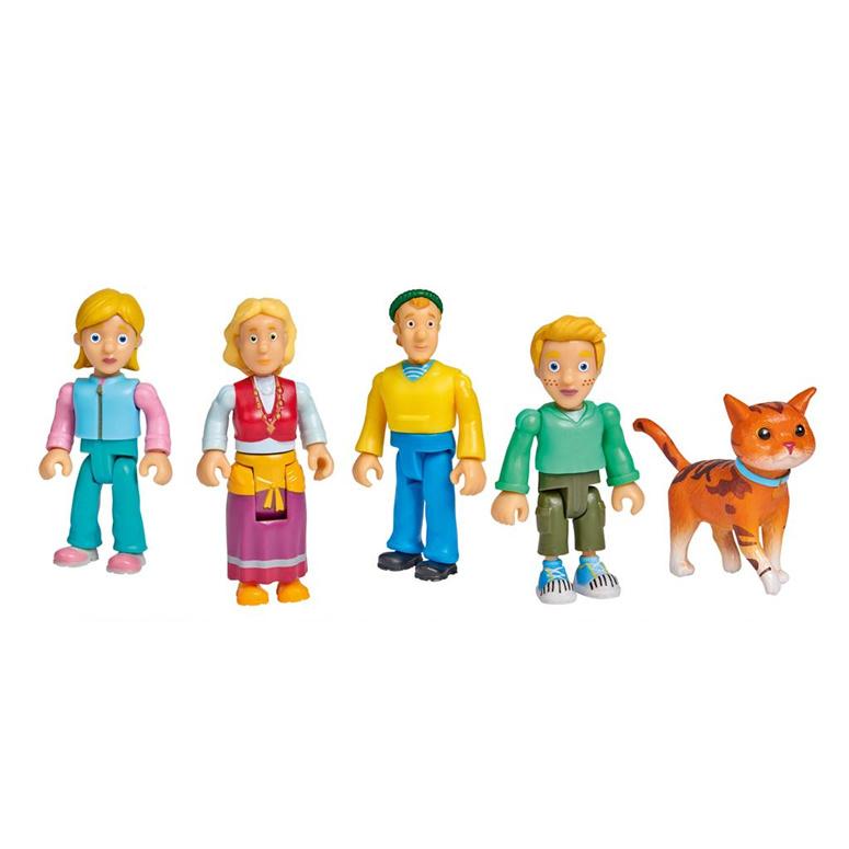 Sara, Jaap, Karel, Brenda en Tijger