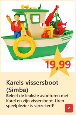 Brandweerman Sam speelgoed vissersboot Karel