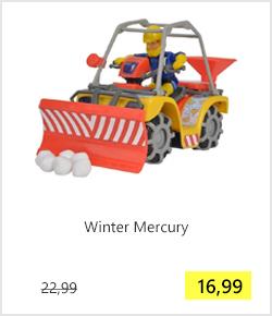Brandweerman Sam speelgoed quad Winter Mercury