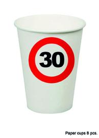 30 jaar: 8 paper cups