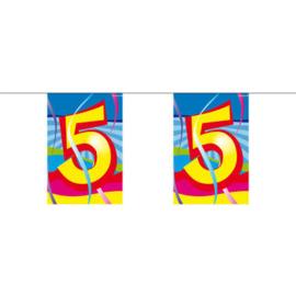 Flagbanner  5. jaar stoelslinger