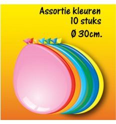 Assortie gekleurde ballonnen 10 stuks circa 30 cm