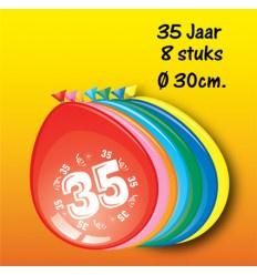 35 jaar ballonnen