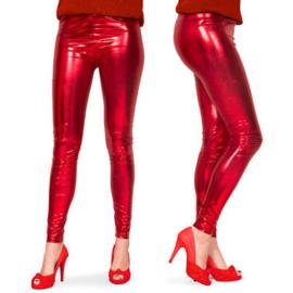 Legging Metalic Rood maat L/XL