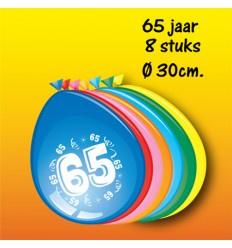 65 jaar ballonnen