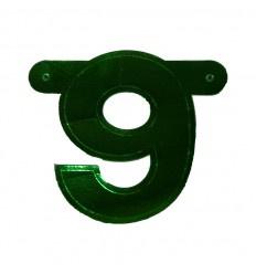 Banner cijfer 9 Groen 1 pcs