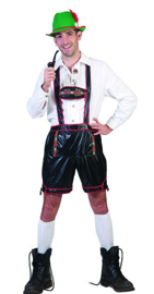 Bavarian Yodeler Lederhosen short with Supenders maat 48/50